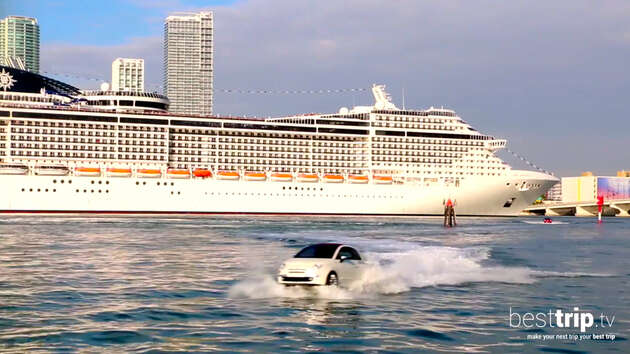 MSC Divina Cruise Ship's Dramatic Arrival to New Home Port, Miami