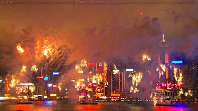 Hong Kong's Chinese New Year Fireworks
