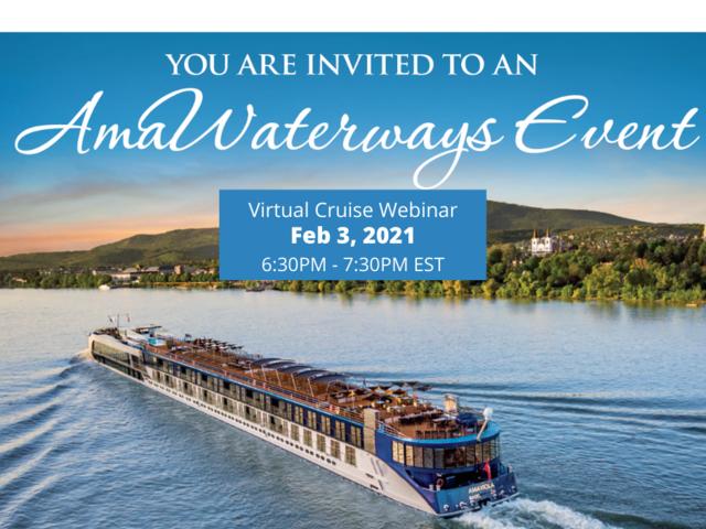 AmaWaterways Virtual Cruise Evening - February 3, 2021