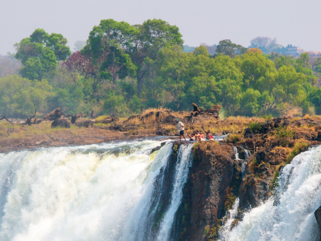 You Can Take a Dip at the Edge of the World's Largest Falls