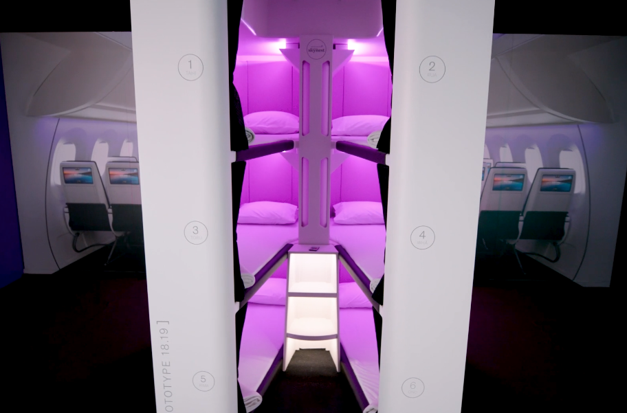 Lie Flat Beds in Economy Class?  This Airline Says,