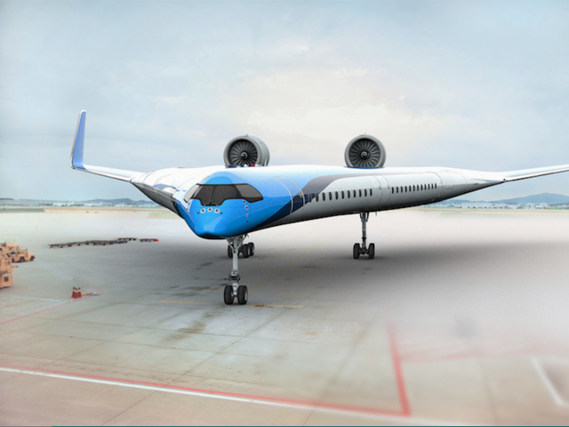 KLM has revealed the future of flight. Hint: You'll be sitting IN the wings.