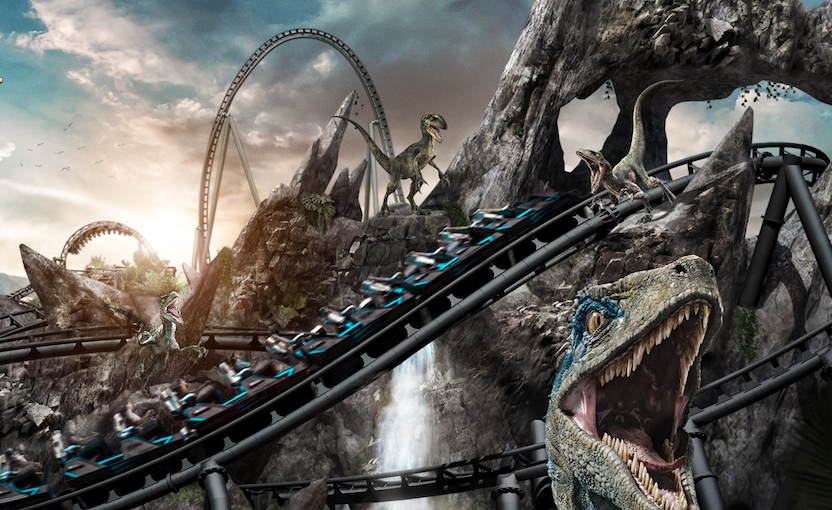 A New 'Species' of Extreme Thrill Ride: the 'VelociCoaster' Takes 'Flight' in Orlando
