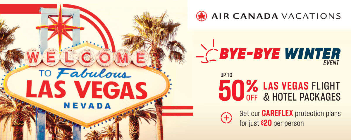 Air Canada Vacations' Bye-Bye Winter Event