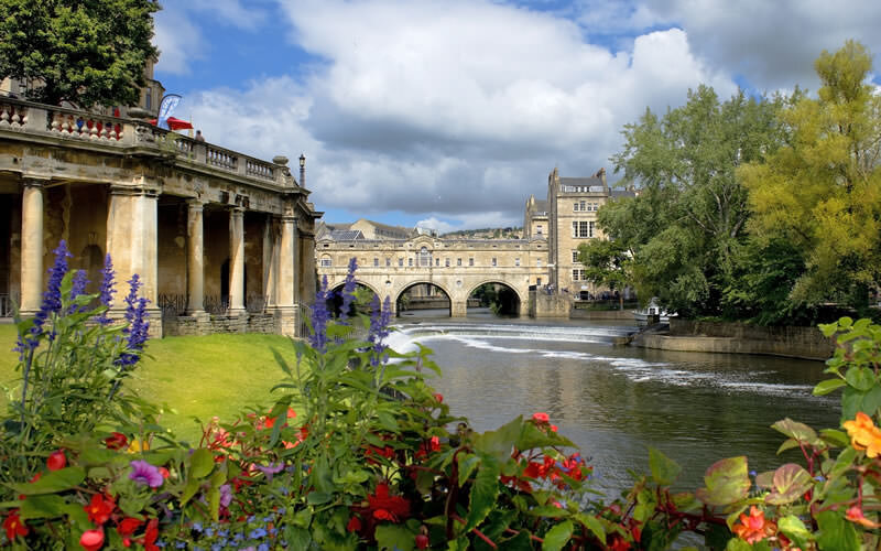 Cityscape in the medieval town Bath   Bath, Somerset, England
