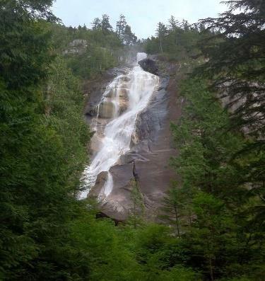 Sea, Falls And Mountains