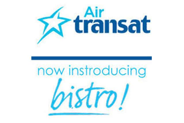 New Bistro Menu onboard Air Transat