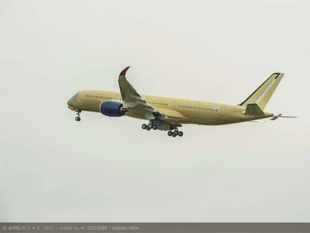Delta's first A350 takes off for the first time