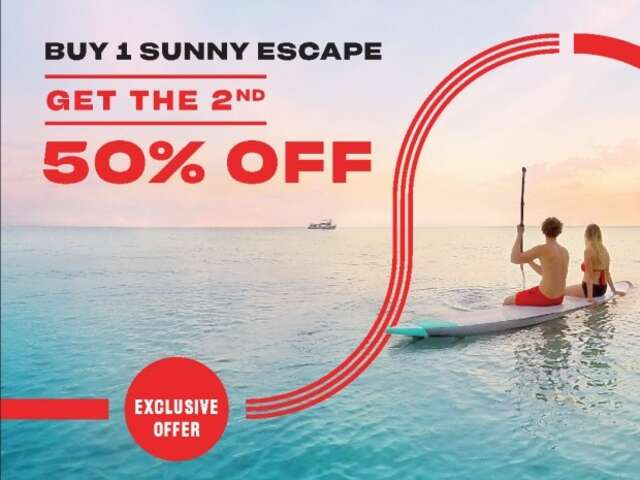 Buy 1 Sunny Escape Get the 2nd  50% off