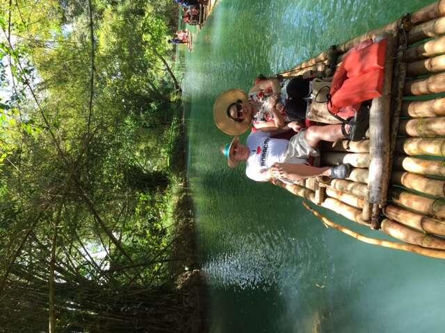 Bamboo rafting in Jamaica
