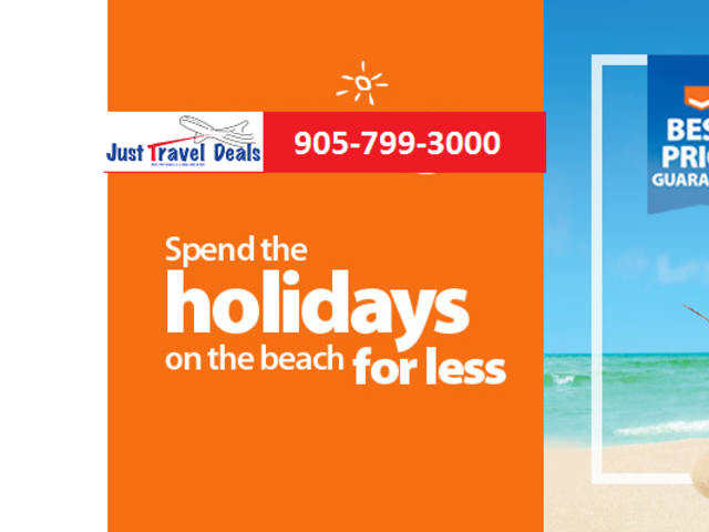 Spend the holidays on the beach! - Toronto Departures