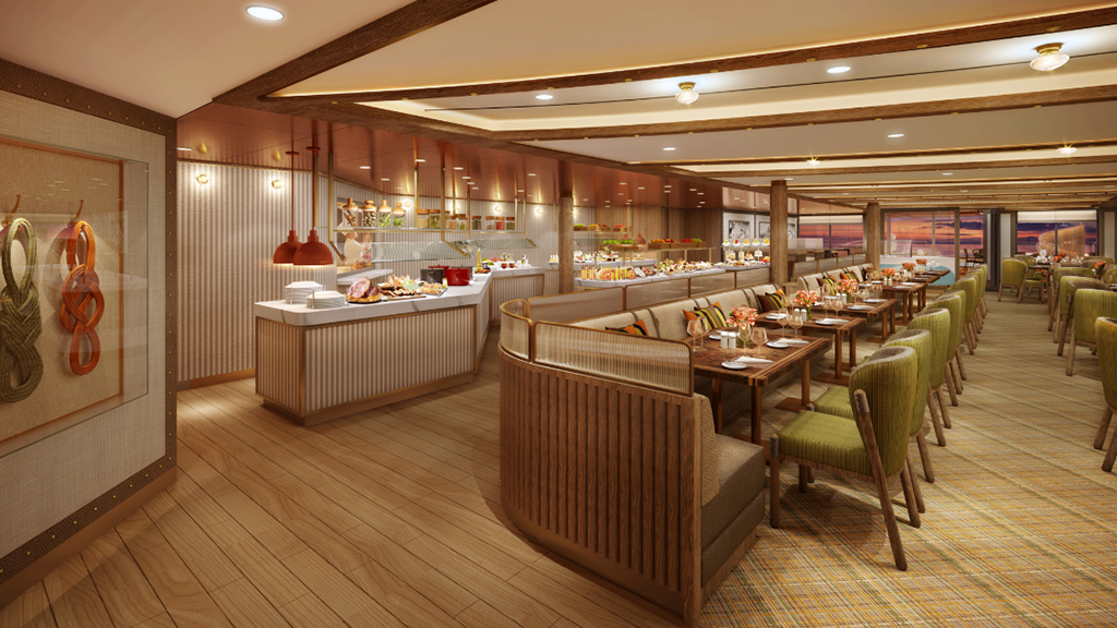Seabourn Outlines Details for 'The Colonnade' Dining Venue on Seabourn Venture