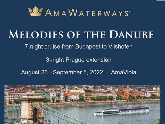 11 days Danube + Prague   AUG 2022