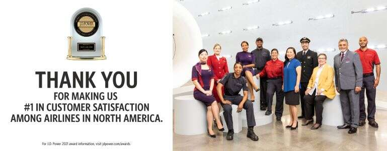 Delta earns J.D. Power No. 1 airline ranking