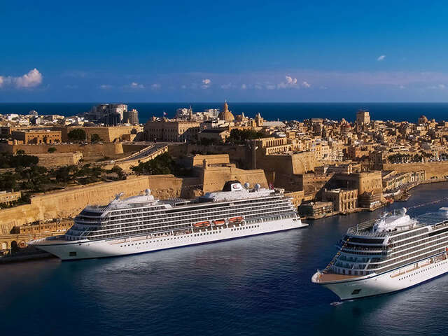 Viking Welcomes Guests on Board in Malta