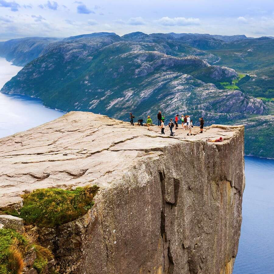 On a high at Pulpit Rock - Lysefjord, Norway