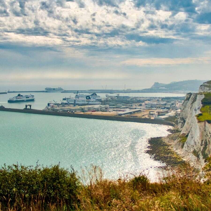 Summer cruising from the White Cliffs - Dover, UK