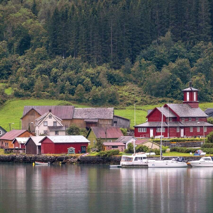 The longest fjord in Norway  - Outside Fjærland, Norway