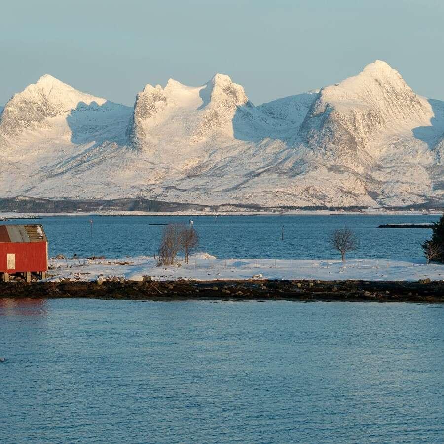 At the Arctic Circle's doorstep  - At sea