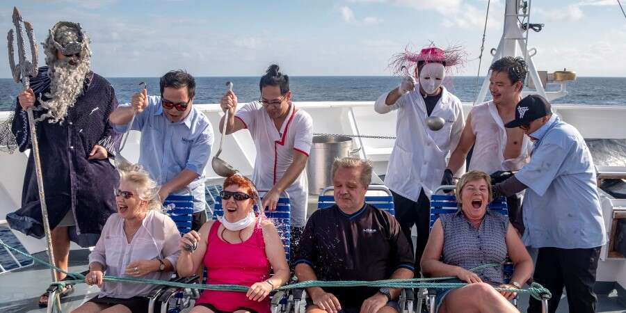 Crossing the Equator - At Sea