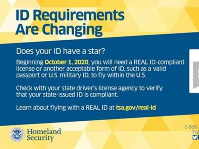 Starting Oct. 1, 2020, travelers will need Real ID-compliant identification cards to board domestic flights