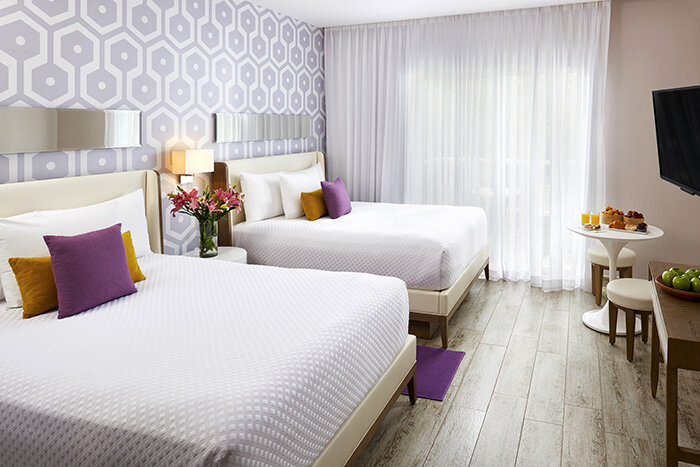 The Fives Beach Hotel & Residences double beds