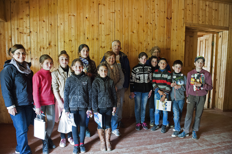 Ushguli School students