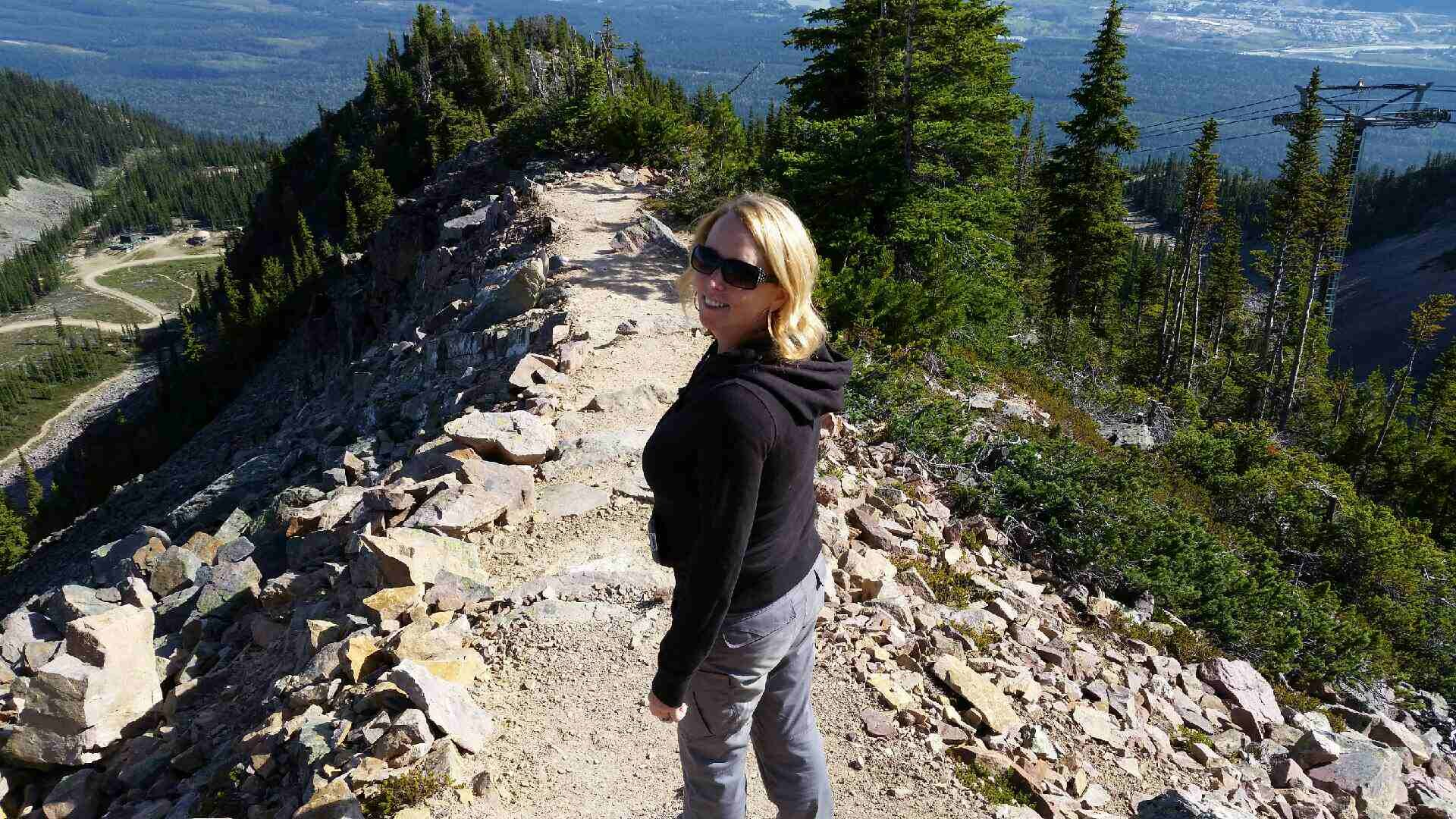 Super Agent Jennifer at 'Kicking Horse' in Golden, BC