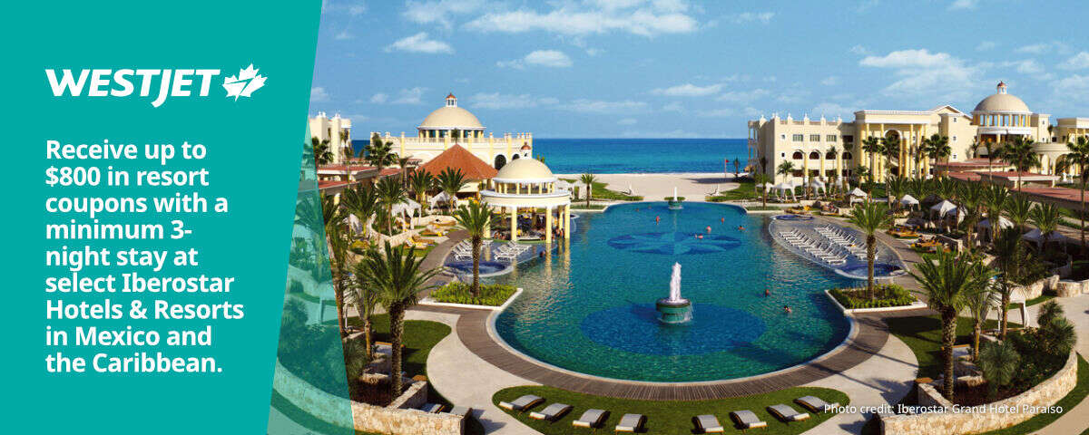 WestJet - Resort credits - select Iberostar Hotels & Resorts