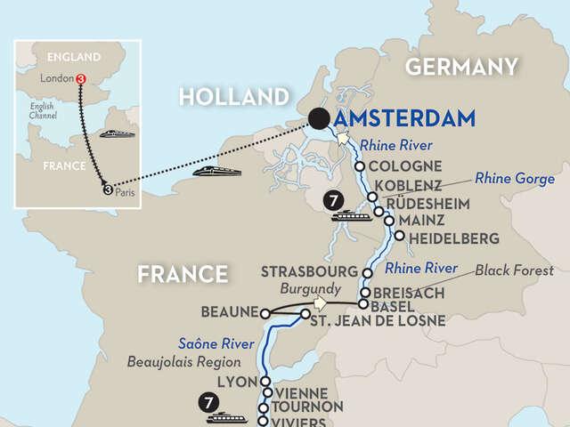 Rhine & Rhône Revealed with Paris & London – Northbound