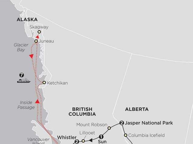 The Canadian Rockies with Alaska Cruise