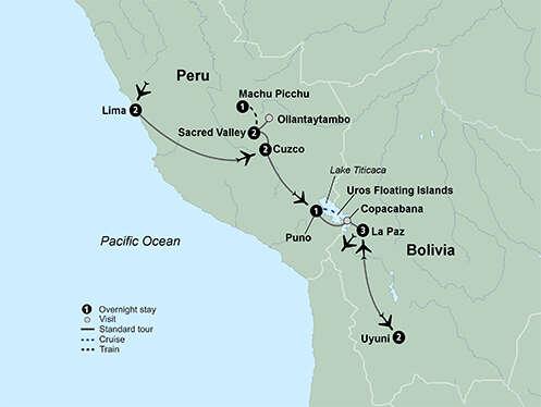 Cultures of Peru & Bolivia featuring a 2-night stay on the Uyuni Salt Flats