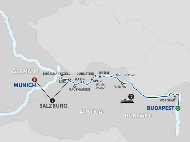 Active Discovery on the Danube with Salzburg – Westbound