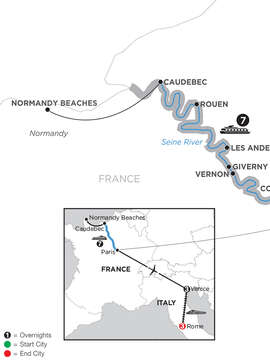 Paris to Normandy with 2 Nights Venice & 2 Nights Rome