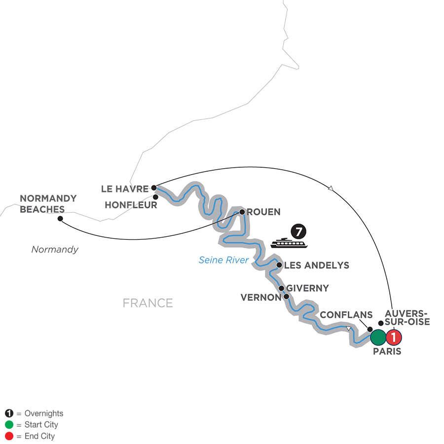 Reflections on the Seine – Northbound