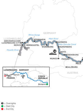 Jewels of Central Europe with 2 Nights Paris – Westbound