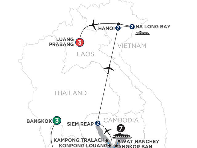 Ultimate Southeast Asia & The Majestic Mekong with Luang Prabang – Northbound