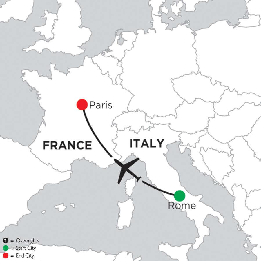 2 Nights Rome & 3 Nights Paris