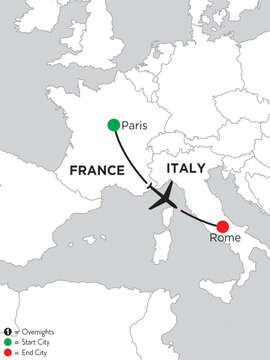 3 Nights Paris & 5 Nights Rome