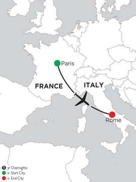 2 Nights Paris & 4 Nights Rome