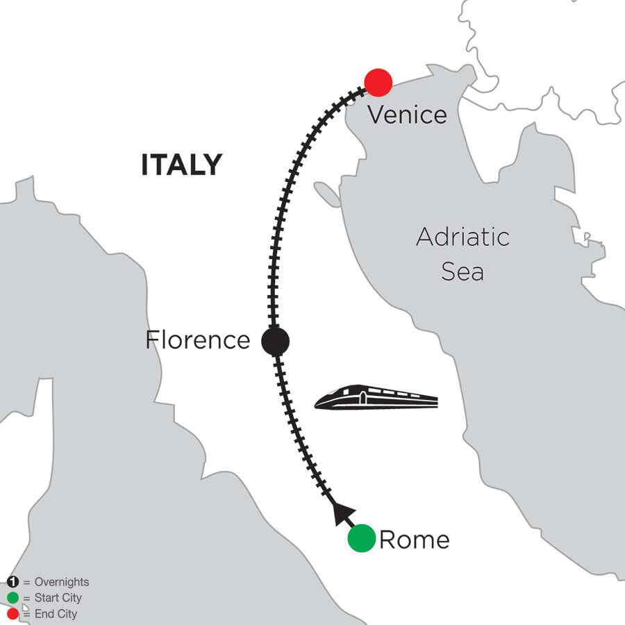 3 Nights Rome, 5 Nights Florence & 5 Nights Venice