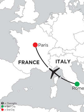 5 Nights Rome & 2 Nights Paris