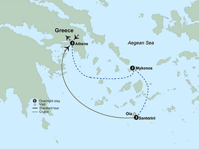 Greece Island Hopper featuring Athens, Mykonos and Santorini