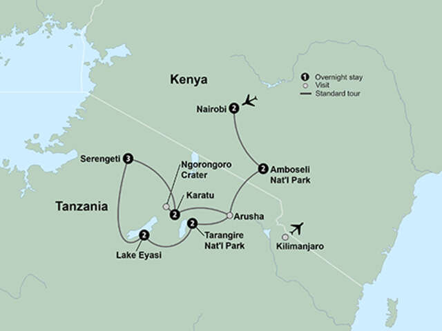 African Safari: Kenya and Tanzania