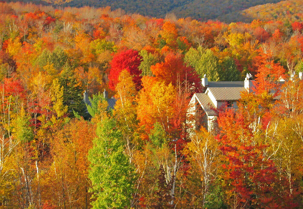 Autumn in Vermont featuring Lake Champlain and the Adirondacks