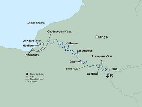 La Belle Seine featuring Paris and Normandy
