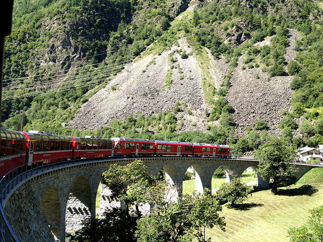 Alpine Lakes & Scenic Trains featuring cruises on Lake Como & Lake Maggiore and scenic trains in Switzerland & Italy